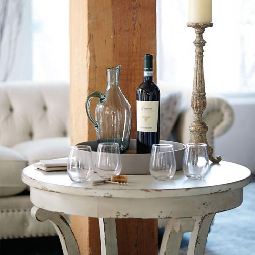 Auberge Round End Table