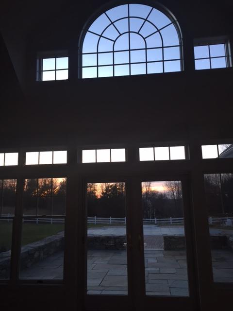 living area sunset