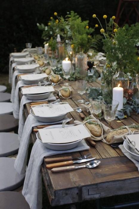 garden table dinner