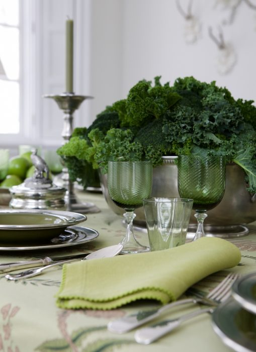 veranda greenery - Five Tablescapes With March Madness Appeal